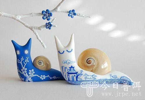 [软陶艺术]国外作品,超可爱蜗牛!-创意设计-今日普洱
